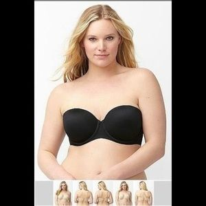 Lane Bryant Cacique Multi Way Strapless Bra 46D